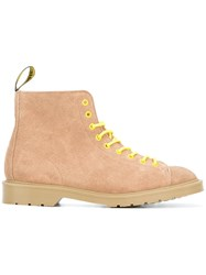 Off White Contrasting Detail Boots Nude Neutrals