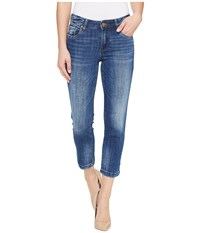 Kut From The Kloth Lauren Crop Straight Leg In Entrusted Entrusted Medium Base Wash Women's Jeans Blue