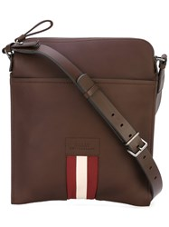 Bally Bostan Messenger Bag Men Leather One Size Brown