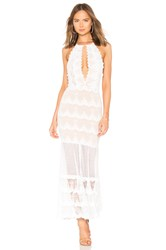 Nightcap Belle Nuit Halter Gown White