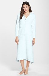 Women's Barefoot Dreams Cozychic Hooded Zip Robe Blue