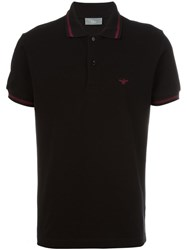 Christian Dior Homme Contrast Detail Polo Shirt Black