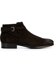 Buttero Buckle Detail Ankle Boots Brown