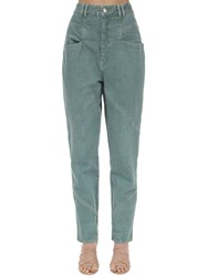 Isabel Marant Eloisa Cotton Denim Jeans Green