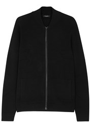 Calvin Klein Black Zipped Cotton Blend Jumper