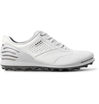 Ecco Golf Cage Pro Leather Golf Shoes White