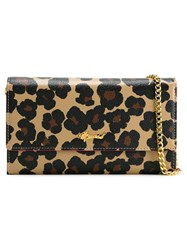 Muveil Leopard Print Wallet Crossbody Bag Pink And Purple
