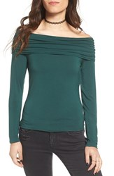 Women's Bp. Off The Shoulder Top Green Pinecone