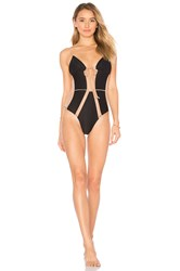 For Love And Lemons La Mer Once Piece Swimsuit Black