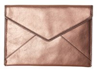 Rebecca Minkoff Metallic Leo Clutch Rose Gold Clutch Handbags