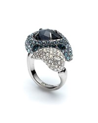 Alexis Bittar Crystal Encrusted Paisley Cocktail Ring