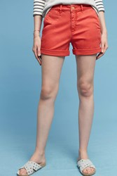 Anthropologie Relaxed Chino Shorts Red