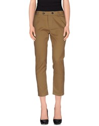 M.Grifoni Denim Trousers Casual Trousers Women Military Green