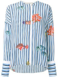 Antonia Zander Striped Sea Shirt White
