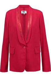 Maison Martin Margiela Mm6 Stretch Crepe Blazer Red
