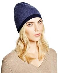 Theory Hody Color Block Cashmere Beanie Bloomingdale's Exclusive Deep Denim Navy