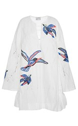 Tanya Taylor Bird Embroidered Jackie Dress