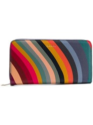 Paul Smith Black Label All Around Zipped Wallet Blue