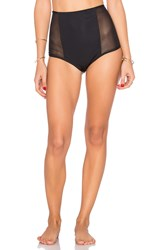 Mara Hoffman Mesh Side High Waist Bottom Black