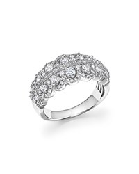 Bloomingdale's Diamond Vintage Inspired Band In 14K White Gold 1.0 Ct. T.W.