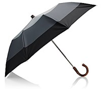 Barneys New York Men's Colorblocked Folding Umbrella Grey