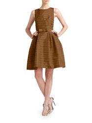 Lotusgrace Taffeta Party Dress Brown