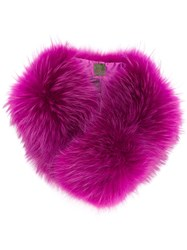 Mr And Mrs Italy Fur Collar Racoon Fur Pink Purple