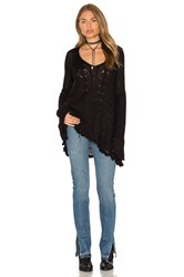 Free People Waterfall Pullover Black