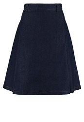 Louche Greenfield Denim Skirt Navy Dark Blue