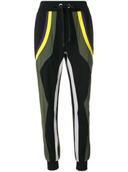 No Ka' Oi Colour Block Track Pants Black