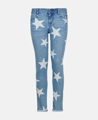 Stella Mccartney Dark Navy Skinny Boyfriend Fringed Stars Jeans