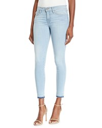 Etienne Marcel Skinny Two Tone Jeans With Double Zip Detail Light Blue