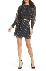 Ali And Jay Florence Two Piece Chiffon Dress Navy Gold Medallion