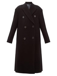 Acne Studios Octania Oversized Double Breasted Wool Blend Coat Black