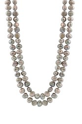9 10Mm Gray Freshwater Pearl Endless Necklace