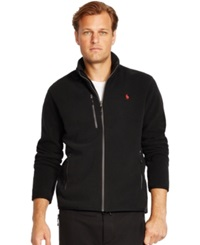 Polo Ralph Lauren Big And Tall Microfleece Track Jacket Polo Black