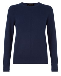 Jaeger Cashmere Crew Neck Sweater Navy
