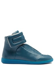 Maison Martin Margiela Future High Top Leather Trainers Blue