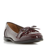 Head Over Heels Gizzy Eyelet Loafers Burgundy