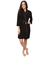 Jockey Rayon Spandex Robe Black Women's Robe