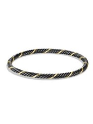 David Yurman Black And Gold Cable Bangle