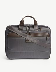 Briggs And Riley Work Medium Expandable Nylon Briefcase Grey