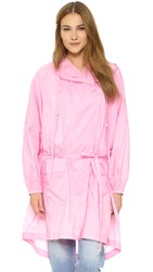 Tibi Oversized Invisible Anorak Candy Pink