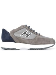 Hogan Lace Up Trainers Grey