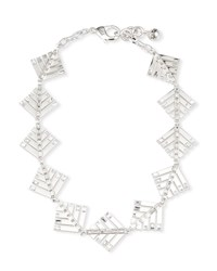 Lulu Frost Cascadia Pine Riviera Necklace W Crystals Silver