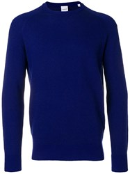 Aspesi Crew Neck Jumper Blue