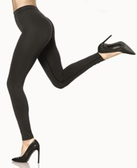 Hue Made To Move Double Knit Shaping Leggings Black