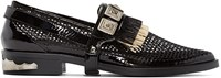 Toga Pulla Black Fringed Harness Loafers