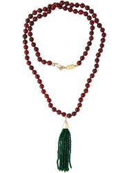 Rosantica Beaded Tassle Pendant Red