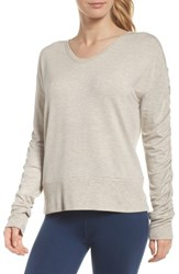Zella Pop On Sweatshirt Grey Crystal Heather
